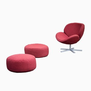 Vintage Model Schelly Armchair and Ottomans Set from BoConcept