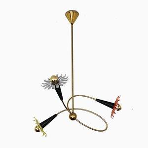 Italian Floral Sputnik Chandelier, 1950s