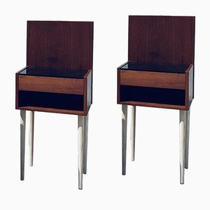 Mid-Century Nightstands by Hans J. Wegner for Getama, Set of 2