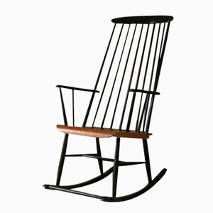 Wooden Rocking Chair by Ilmari Tapiovaara for Pastoe