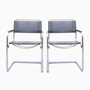 S43 Dining Chairs by Mart Stam & Marcel Breuer for Thonet, 1980s, Set of 2