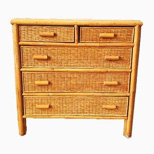 Vintage Bamboo Dresser, 1970s