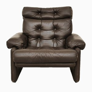 Leather Coronado 3-Seat Highback Armchair by Tobia & Afra Scarpa for B&B Italia / C&B Italia, 1970s