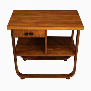 Side Table in Walnut, Beech & Ebonized Wood, 1970s