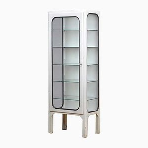 Vintage Medical Cabinet with 5 Glass Shelves, 1970s