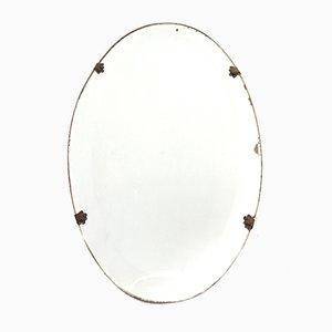Italian Oval Mirrors, 1920s, Set of 2