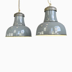 Large Factory Ceiling Lamp by Schaco, 1930s