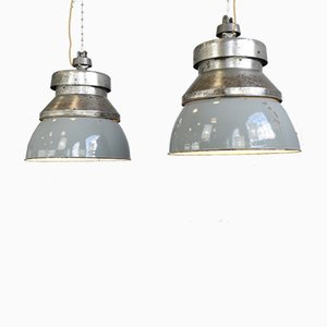 Large Factory Pendant Lamp from Kandem Leuchten, 1930s