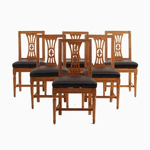 Gustavianische Esszimmerstühle, 1720er, 6er Set