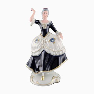 Dancing Woman in Porcelain from Royal Dux, 1940s