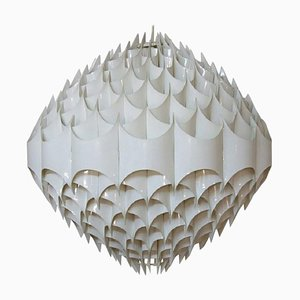 Colossal Rhythmic Pendant with White Plastic Screens by Milanda Havlova, 1960s