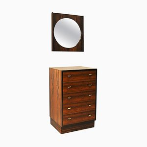 Mid-Century Rosewood Drawer and Mirror Set by Torbjørn Afdal for Mellemstrands Møbelfabrik, 1950s, Set of 2