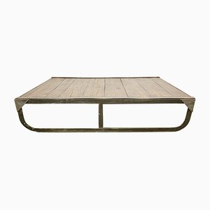 Vintage Industrial Pallet Coffee Table, 1950s