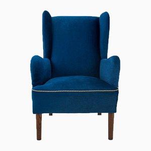 Scandinavian Wingback Armchair, 1950s