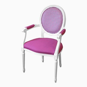 White Beechwood Chair with Designers Guild Upholstery from Photoliu