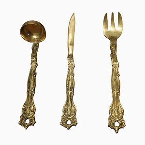 Bronze Menage Set, 1950s, Set of 3