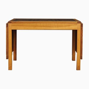 Mid-Century Danish Walnut Veneer and Mahogany Desk, 1970s