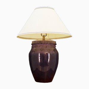Mid-Century Danish Purple Ceramic Table Lamp, 1970s