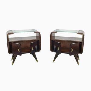 Tables de Chevet Vintage par Osvaldo Borsani, 1950s, Set de 2