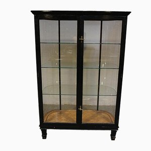 Antique Black Display Cabinet