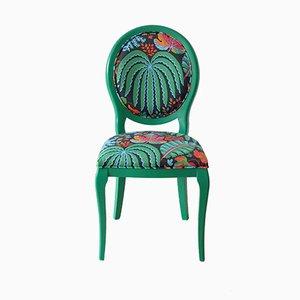 Sedia in faggio con tessuto tropicale Sanderson di Photoliu