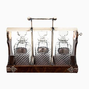 Antique Decanters and Case Set from Hobbs & Co
