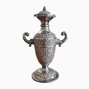 Antike versilberte kleine versilberte Vase von WMF, 1920er