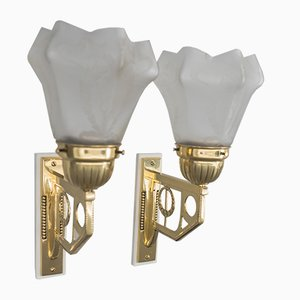 Jugendstil Wall Lights, Vienna, 1908, Set of 2