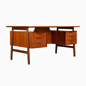 Mid-Century Teak Desk by Gunni Omann for Omann Jun Mobelfabrik, 1960s