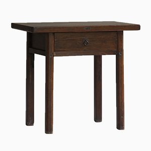 Small Antique Chinese Walnut Side Table