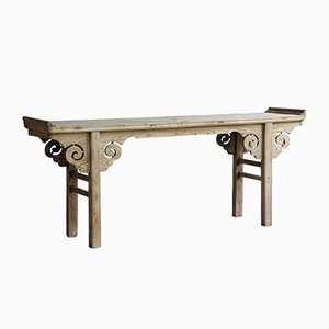 Antique Chinese Carved Elm Oriental Altar Table