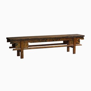 Antique Mongolian Painted Bench