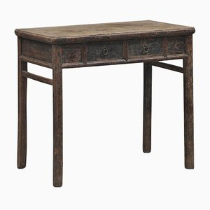 Antique Chinese Two Drawer Side Table