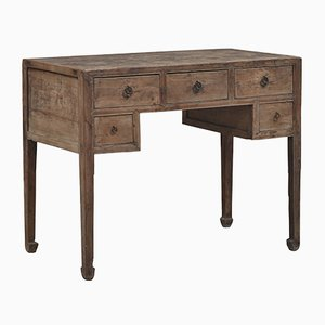 Antique Chinese Elm Desk with Drawers