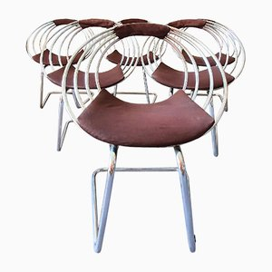 Vintage Space Age Dining Chairs, 1970s, Set of 6