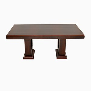 French Art Deco Rosewood Dining Table, 1920s