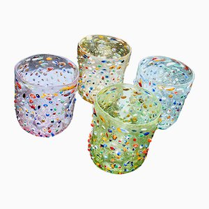 Scaramacao Murano Glasses by Vestidello lLca for Vetrarti, 2002, Set of 4