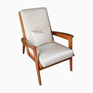White Oak Armchair, Italy, 1940s