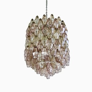 Mid-Century Murano Glass Polyhedron Chandelier by Carlo Scarpa for Venini, 1960s