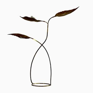 Vintage 3-Leaf Rhubarb Floor Lamp by Tommaso Barbi