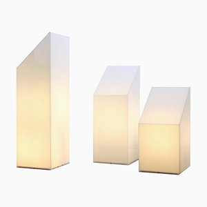 Large Postmodern Cubist Plexiglass Lighting Sculptures from Raak, 1980s, Set of 3