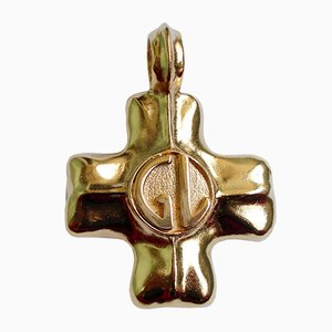 Vintage Logo Cross Pendant by Guy Laroche, 1980s