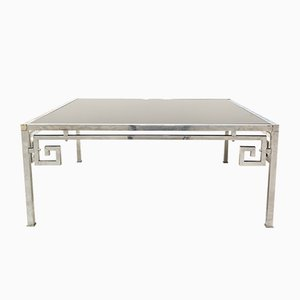 Silver Metal Coffee Table, 1970s