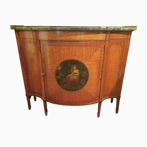 Antique English Satinwood Sideboard