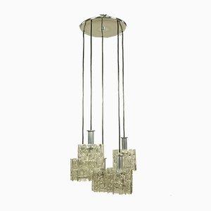 Vintage Glass Tube Cascading Pendant Lamp from Doria Leuchten, 1960s
