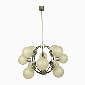 Vintage Glass Ball Sputnik Pendant Lamp, 1970s
