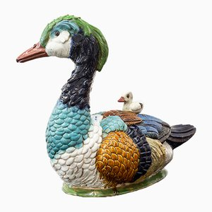 Centerpiece in the Shape of a Duck Leg in Glazed Stoneware, 1950s