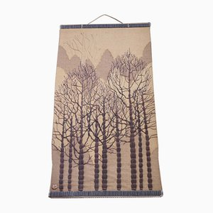 Mid-Century Forest Trees Tapestry