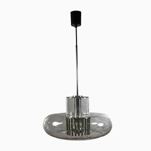 Volcano Glass Pendant Lamp from Doria Leuchten, 1960s