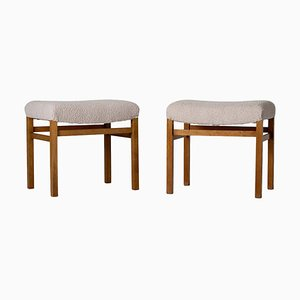 Scandinavian Modern Stools, 1950s, Set of 2